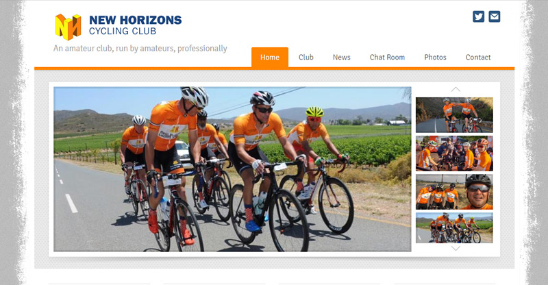 New Horizons Cycling Club - website by TraciDesign