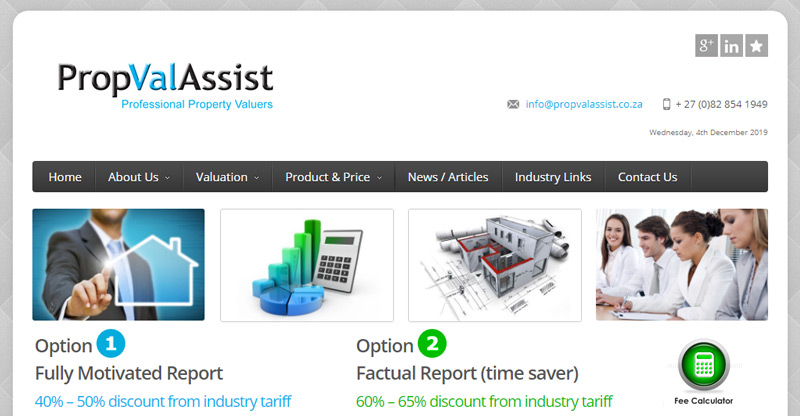 PropValAssist - website by TraciDesign