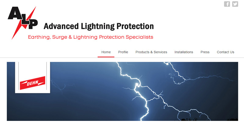 Advanced Lightning Protection - website by TraciDesign