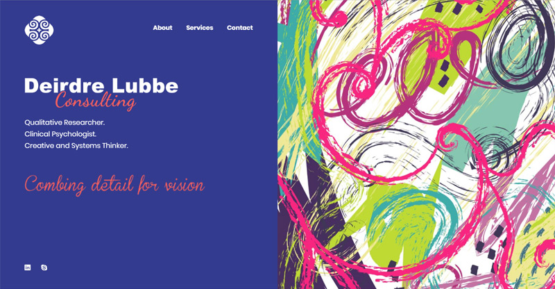 Deirdre Lubbe Consulting - website by TraciDesign